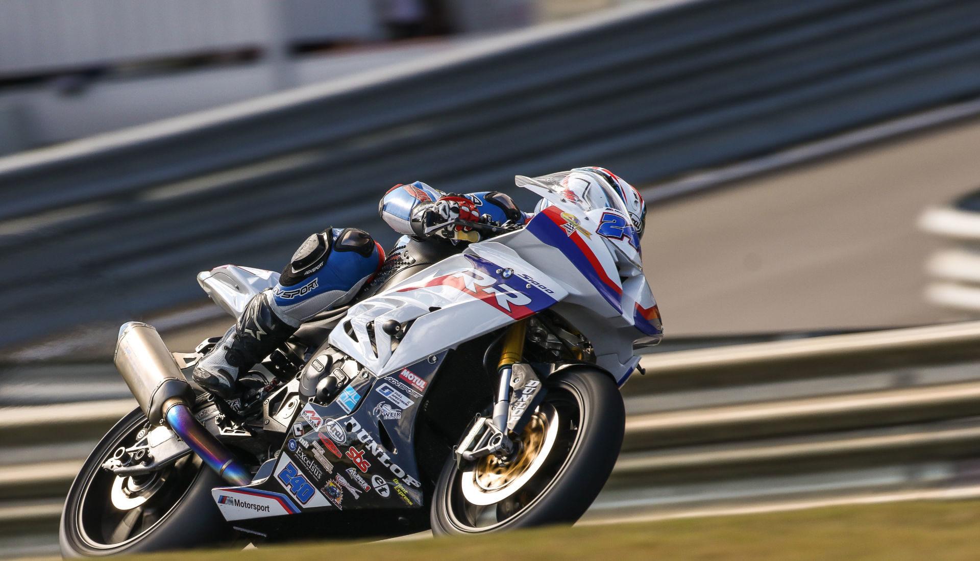 Travis Wyman (240). Photo by BrockImaging, courtesy of Weir Everywhere Racing BMW.