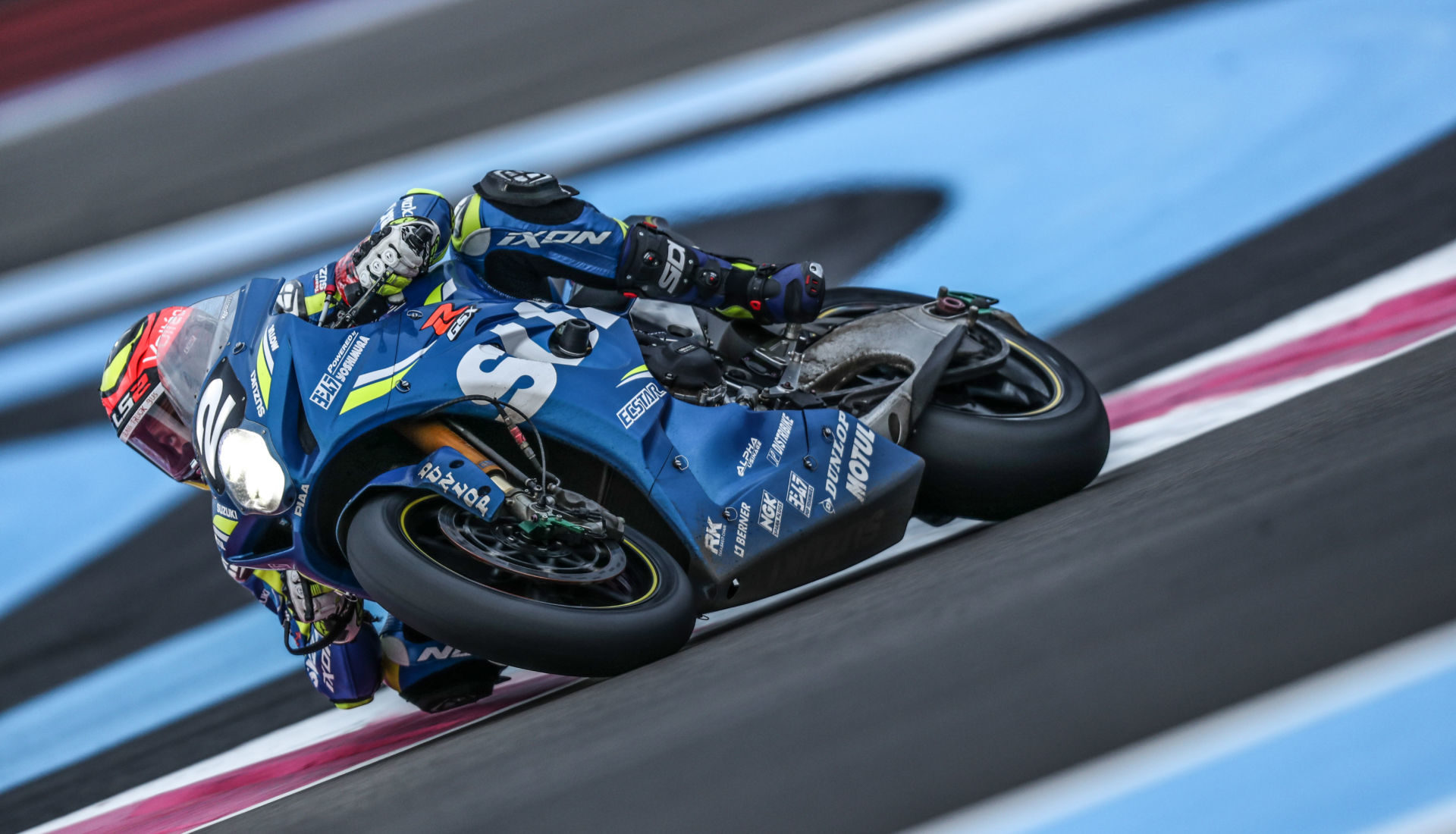 Suzuki Endurance Racing Team (2) won the weather-shortened Bol d'Or 24-hour.