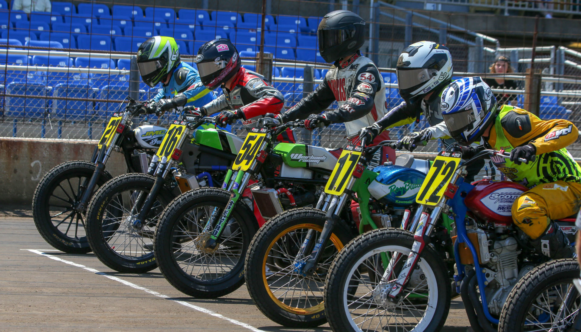 American Flat Track racers. Photo by Scott Hunter, courtesy of AFT.