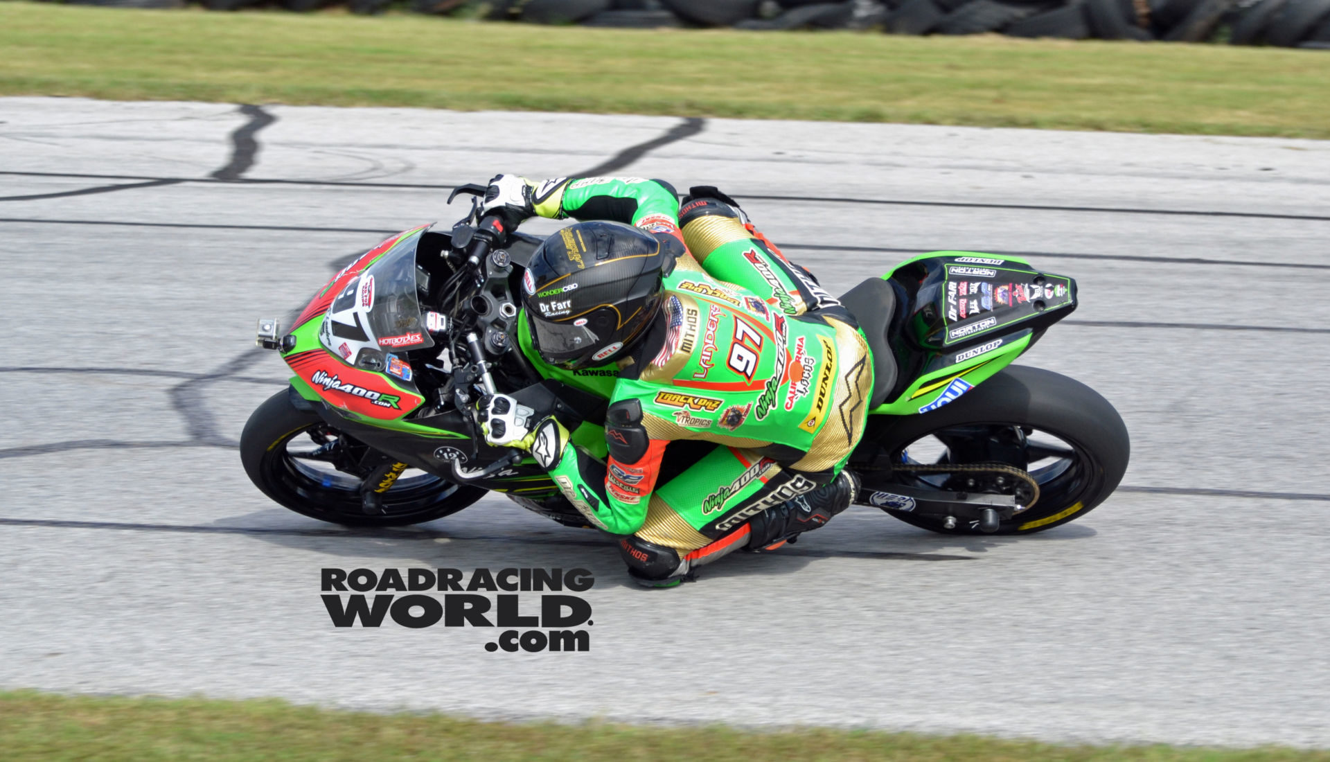Rocco Landers (97) won four races Saturday at the