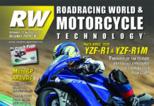 The cover of the October 2019 issue of Roadracing World & Motorcycle Technology magazine.