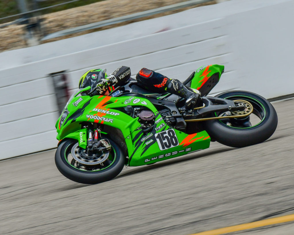 LRRS racer Tyler Wasserbauer (158). Photo by Martin Hanlon, courtesy of LRRS/NHMS.