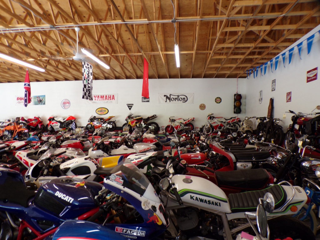 Part of Charlie Mavros' extensive motorcycle collection.