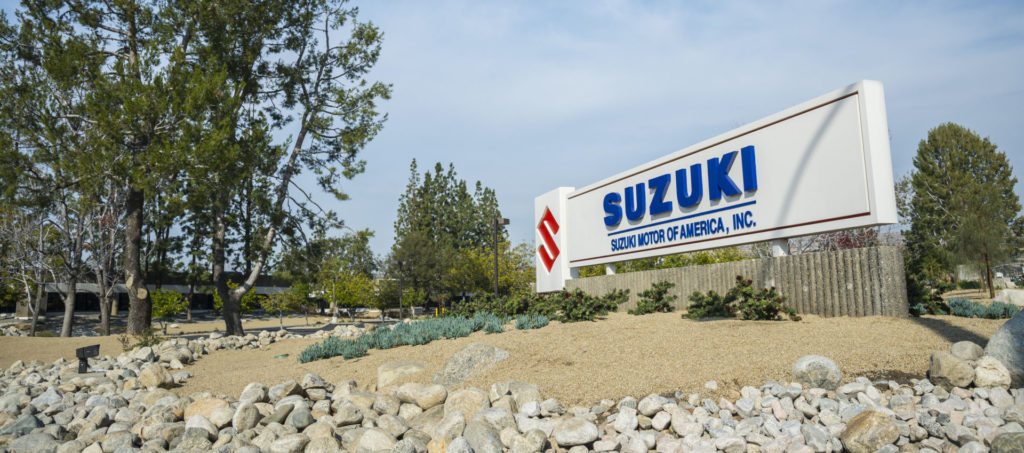 Suzuki Motor of America, Inc. headquarters in Brea, California.