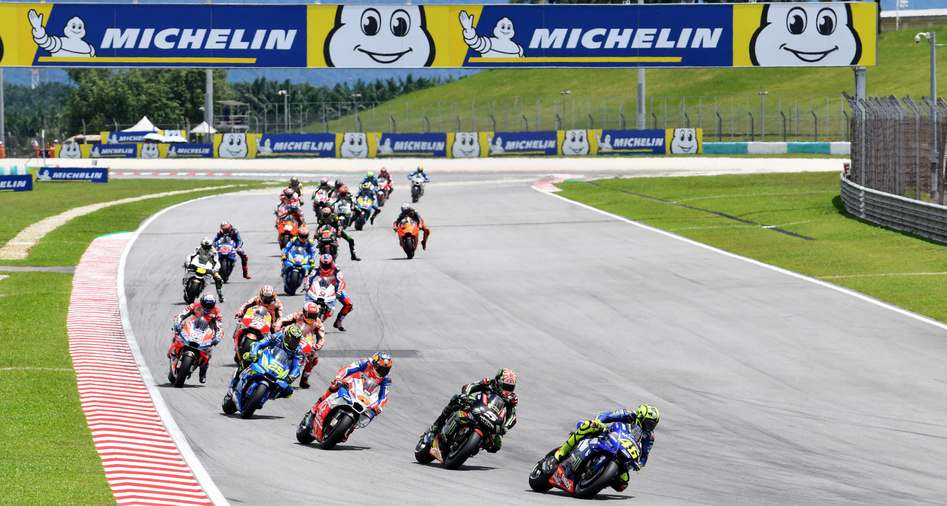 The start of the 2018 Malaysian Grand Prix at Sepang International Circuit. Photo courtesy of Michelin.