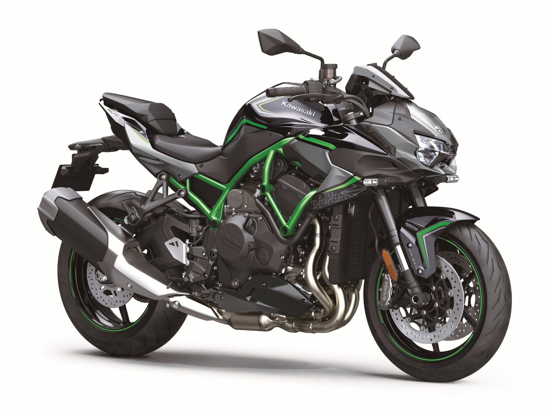 A 2020-model Kawasaki Z H2. Photo courtesy of Kawasaki.