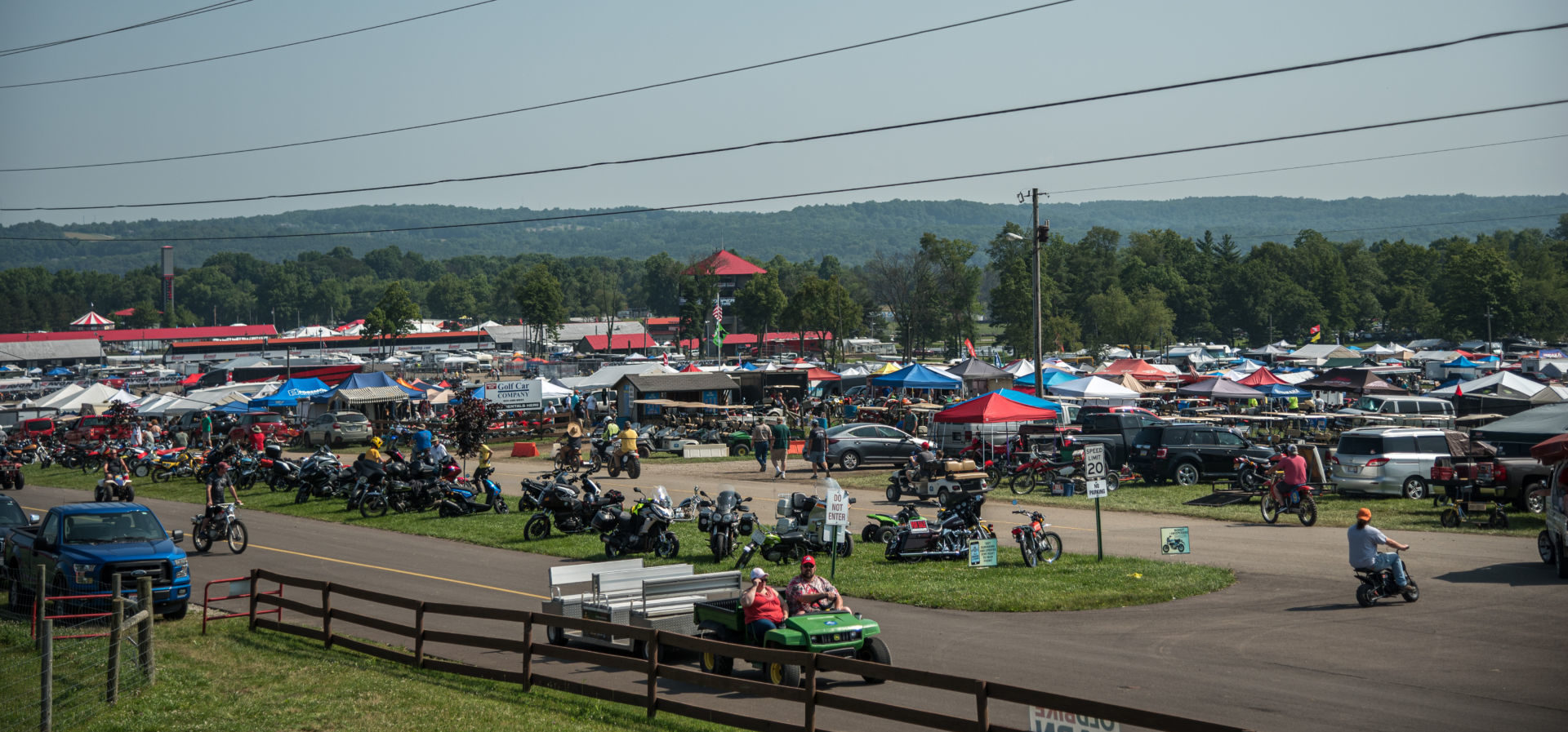 Mid-Ohio Sports Car Course, as seen during AMA Vintage Motorcycle Days 2019. Photo by Jen Muecke, courtesy AMA.