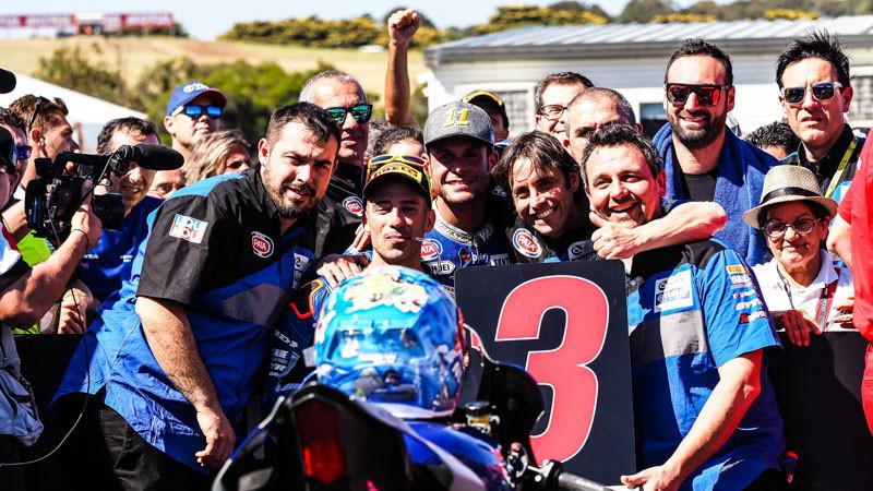 Marco Melandri started 2019 off with a podium finish at Phillip Island. Photo courtesy of Dorna WorldSBK Press Office.
