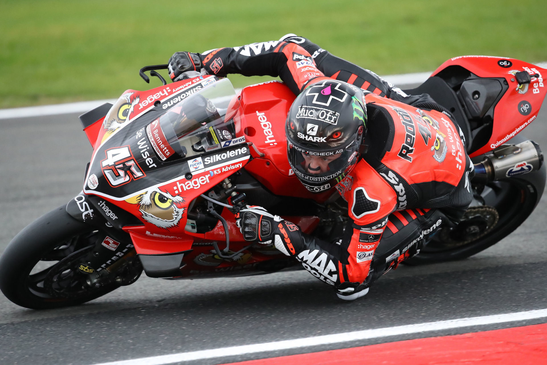 Scott Redding (45). Photo by Double Red Photographic, courtesy of Be Wiser Ducati.
