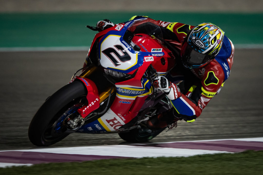 Leon Camier (2). Photo courtesy of Moriwaki Althea Honda Team.