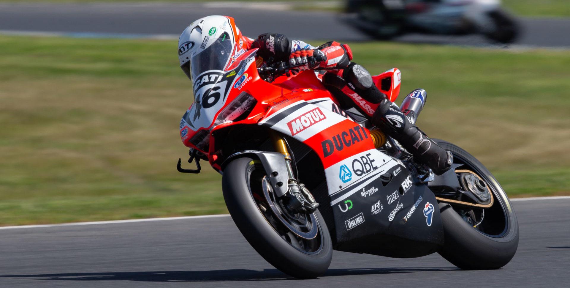 Mike Jones (46). Photo by Andrew Gosling/TBG Sport, courtesy of Motorcycling Australia.