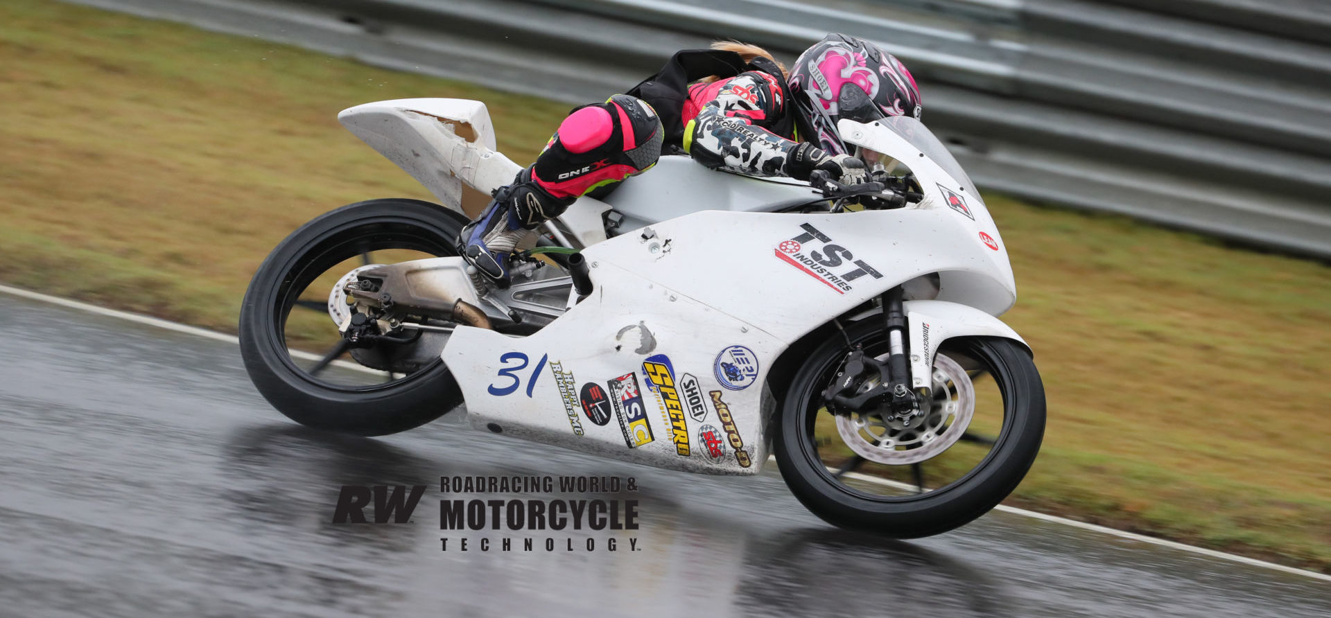 Kayla Yaakov (31), age 12, in action on her Honda NSF250R Friday at Barber Motorsports Park. Photo by Brian J. Nelson.