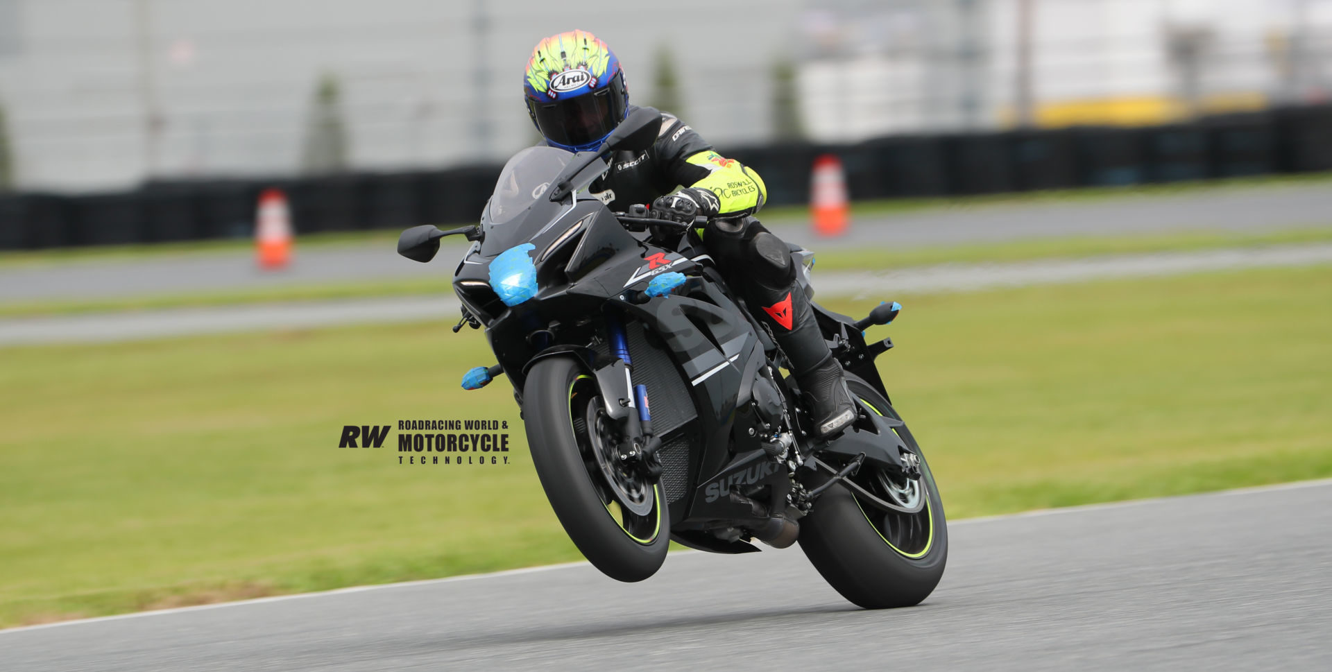 Five-time Daytona 200 winner Scott Russell riding a Suzuki GSX-R1000R during the Team Hammer Advanced Riding School October 18 at Daytona International Speedway. Photo by Brian J. Nelson.