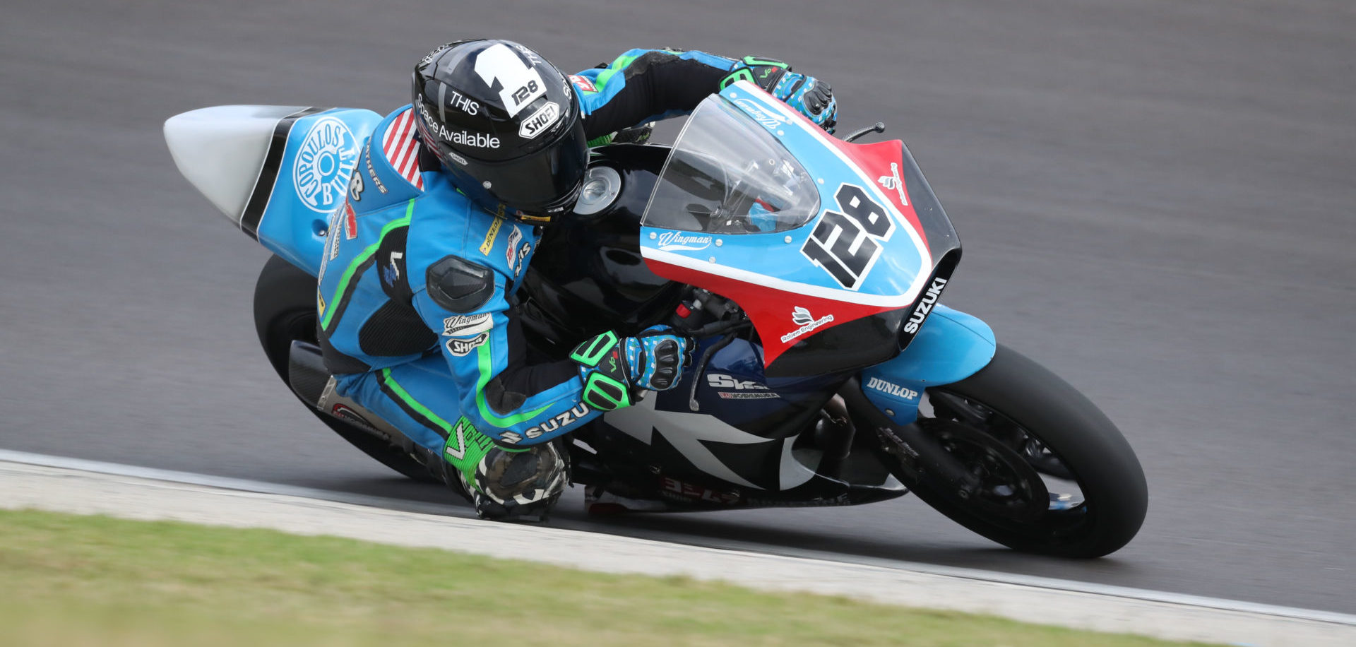 Chris Parrish (128) won two WERA National races Sunday at Barber Motorsports Park. Photo by Brian J. Nelson.