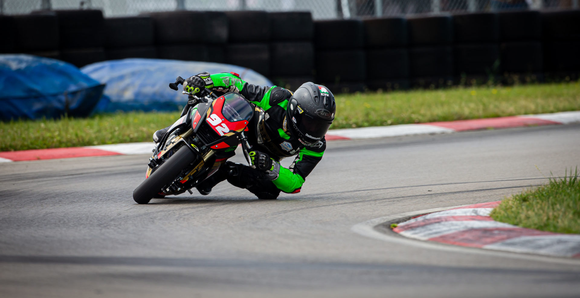American Rossi Moor (92), as seen during the Ohvale Talent Cup at Pittsburgh International Race Complex. Photo by Michael Brock/Brock Imaging, courtesy of Rise Moto/Ohvale USA.