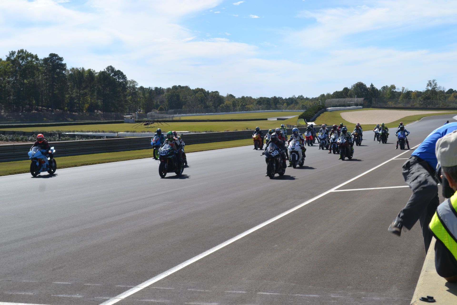 The grid just prior to the start of the WERA/N2 Racing 4-hour endurance race at Barber Motorsports Park. Photo by David Swarts.