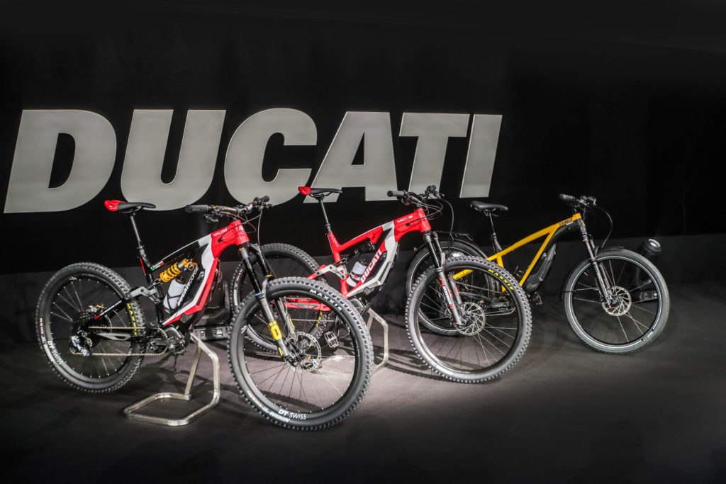 Ducati's new lineup of electric-assisted bicycles, or Ebikes. Photo courtesy of Ducati.