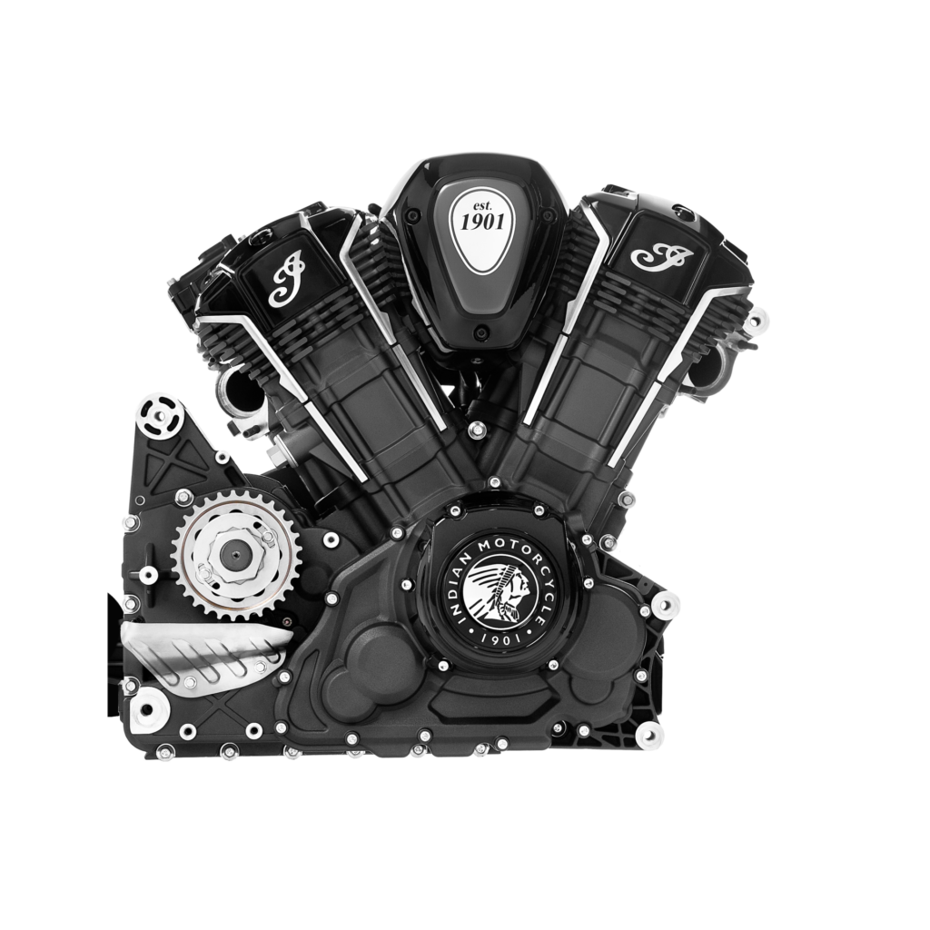 The right side of Indian Motorcycle's new PowerPlus V-Twin engine. Photo courtesy of Indian Motorcycle.