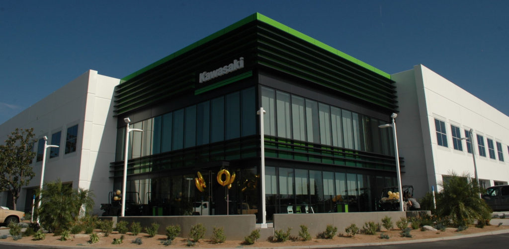 Kawasaki Motors Corp., U.S.A. headquarters in Foothill Ranch, California. Photo by David Swarts.