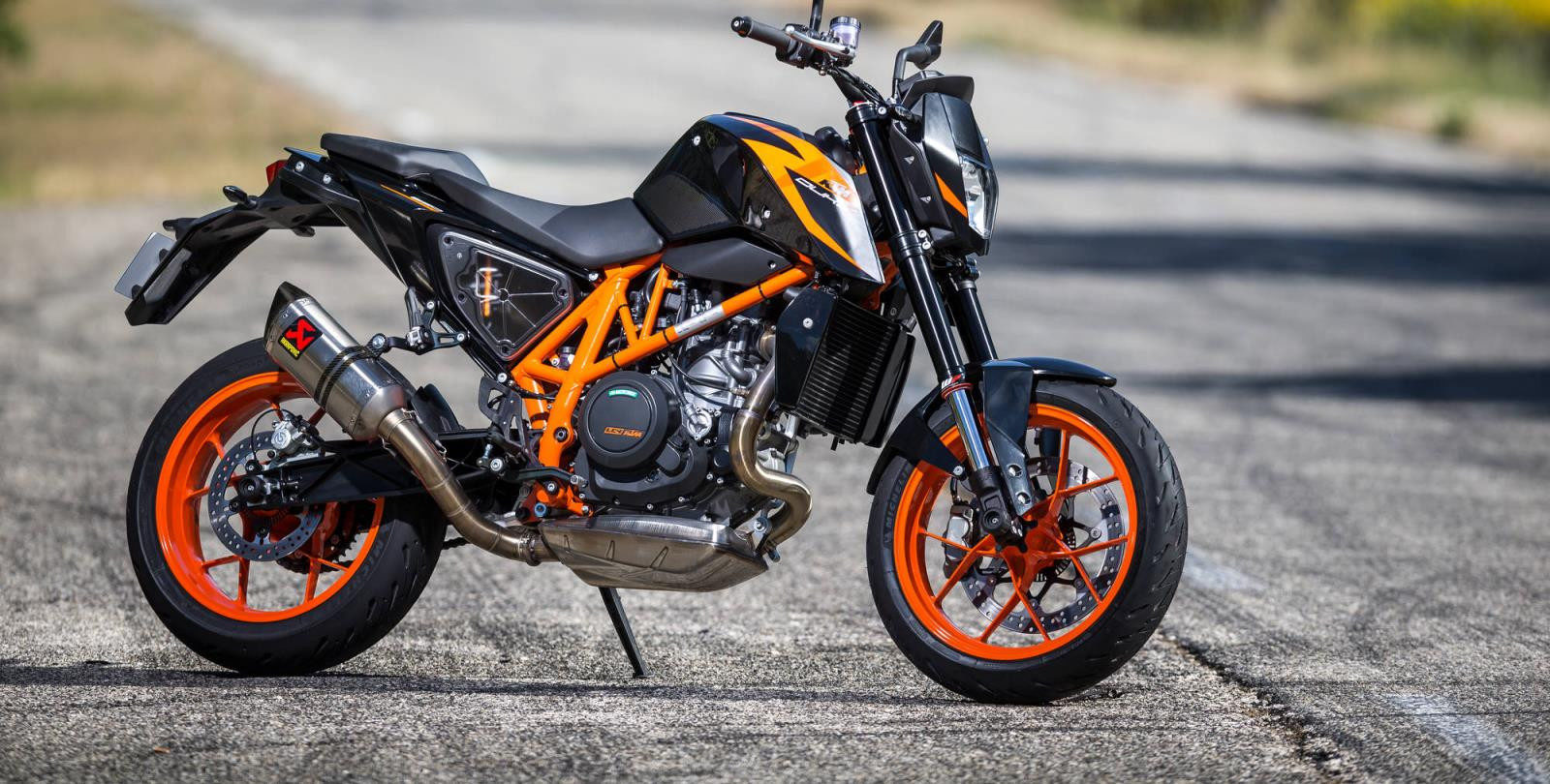 Michelin's new Road 5 sport touring tires on a KTM Duke. Photo courtesy of Michelin.