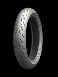 A Michelin Road 5 front tire in size 120/70-ZR17. Photo courtesy of Michelin.