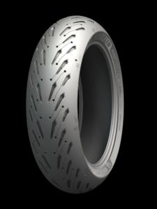 A Michelin Road 5 rear tire in size 180/55-ZR17. Photo courtesy of Michelin.