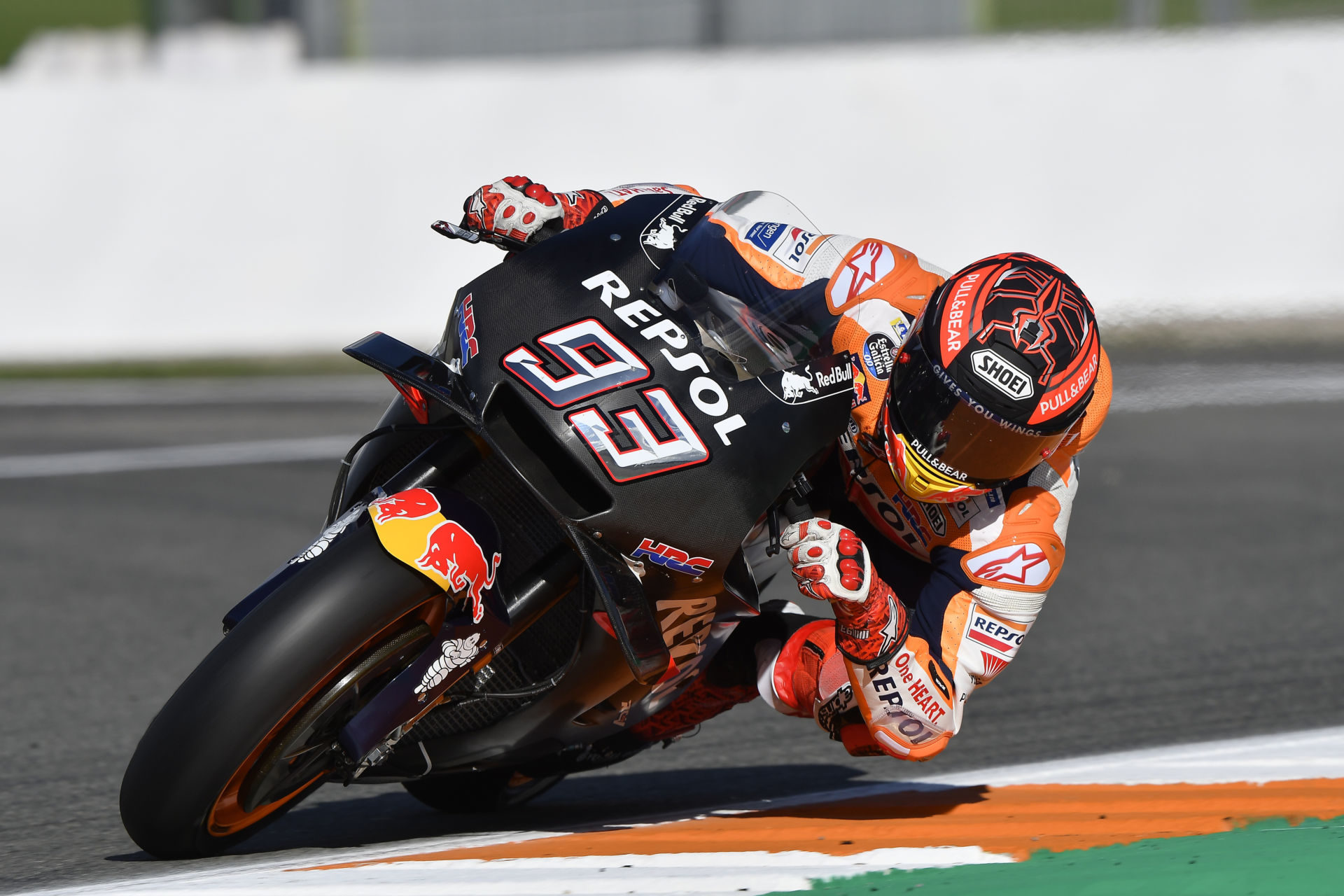 Marc Marquez (93), as seen during post-season testing at Valencia in 2018.