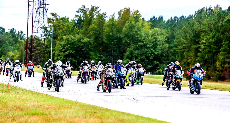 The start of a race at the 2019 Motogladiator season finale. Photo by Joshua Barnett/Apex Pro, courtesy of Motogladiator.