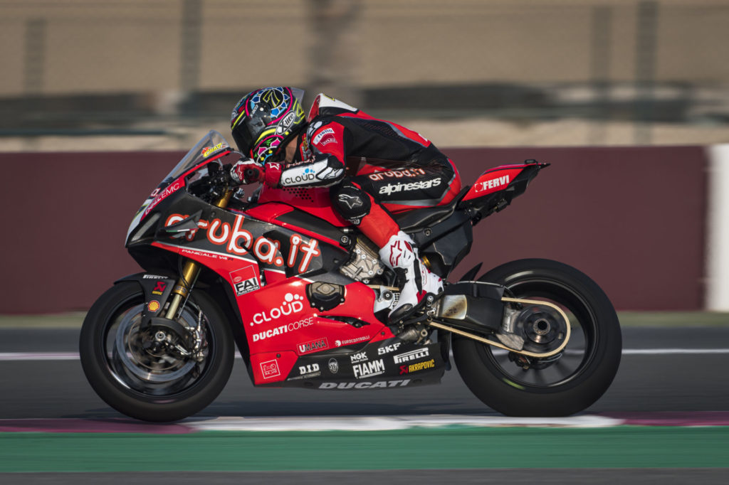 Chaz Davies (7). Photo courtesy of Ducati.