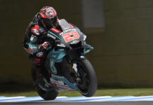 Fabio Quartararo (20) in action at Motegi. Photo courtesy of PETRONAS Yamaha Sepang Racing Team.