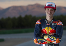 Rocco Landers, the 2019 MotoAmerica Junior Cup Champion and 2020 Red Bull MotoGP Rookie. Photo by GEPA Pictures, courtesy of Red Bull.