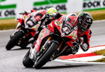 Teammates Scott Redding (45) and Josh Brookes (25) head into the finale of the 2019 British Superbike Championship first and second, respectively, in the point standings. Photo by Barry Clay.