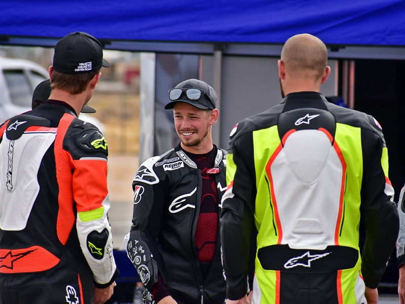 MotoGP World Champion Casey Stoner spent his 34th birthday on track at the Alpinestars Friends & Family Track Experience at Willow Springs International Raceway. Photo by Michael Gougis.