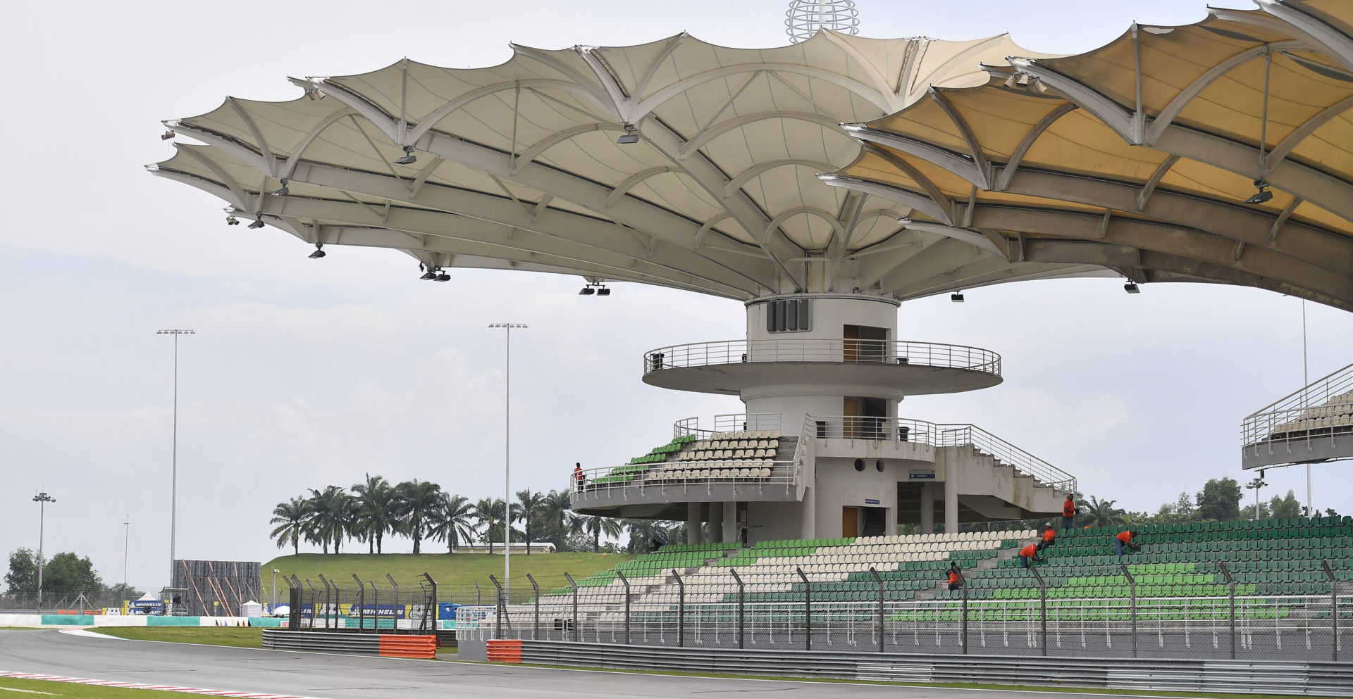 The iconic grandstands at Sepang International Circuit. Photo courtesy of Michelin.