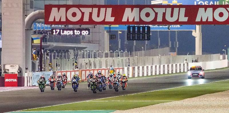 The start of World Superbike Race One. Photo courtesy of Dorna WorldSBK Press Office.