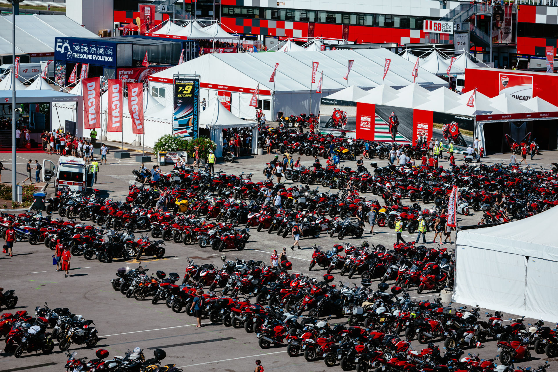 World Ducati Week will be held at Misano World Circuit Marco Simoncelli July 17-19, 2020.