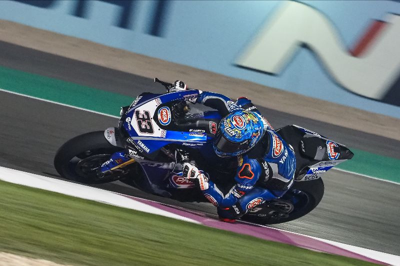 Marco Melandri (33), as seen during his final race event at Losail International Circuit. Photo courtesy of Dorna WorldSBK Press Office.