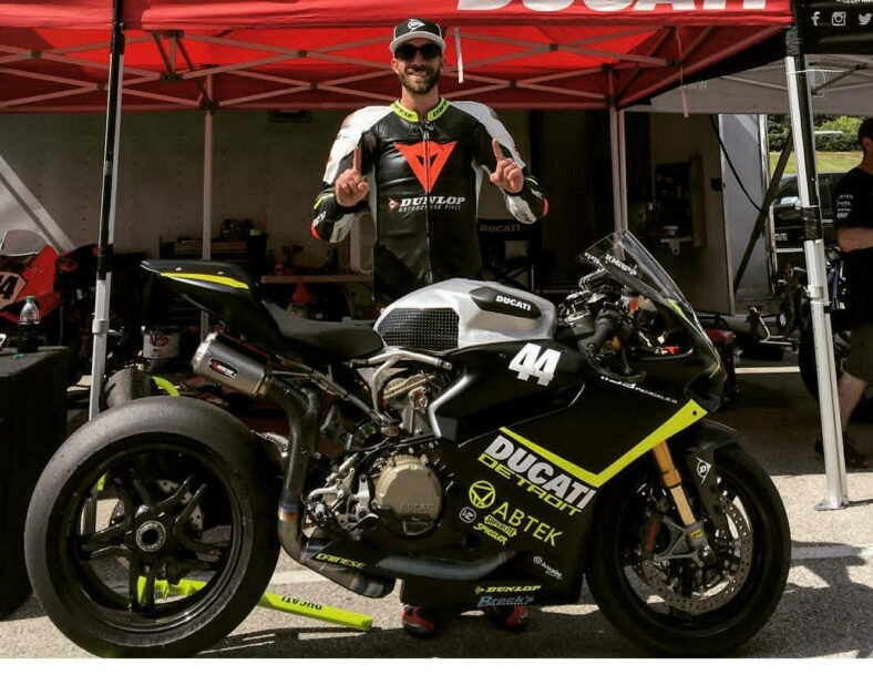 Taylor Knapp and his Ducati Detroit Panigale R.