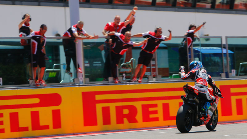 After another stint in MotoGP, Marco Melandri returned to the Superbike World Championship in 2017. Photo courtesy of Dorna WorldSBK Press Office.