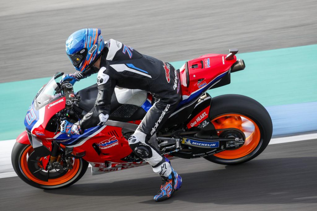Alex Marquez (73). Photo courtesy of Repsol Honda.