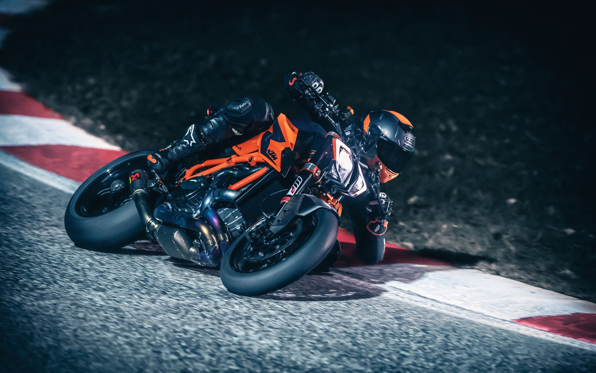 A 2020-model KTM 1290 Super Duke R at speed. Photo courtesy of KTM.