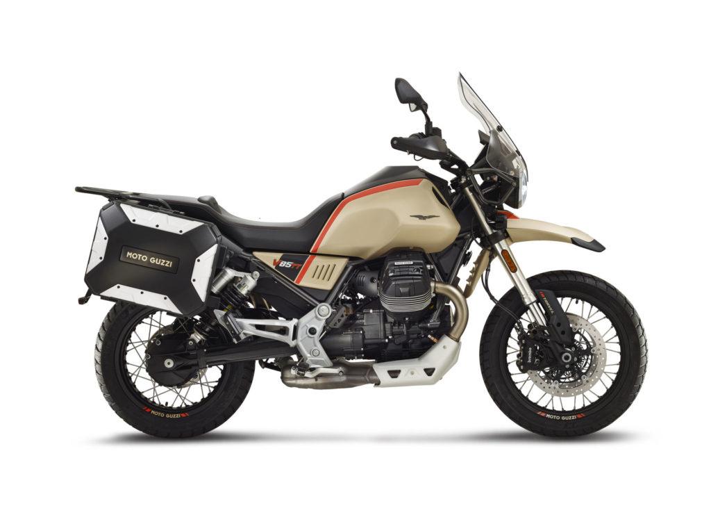 A 2020 Moto Guzzi V85 TT Travel. Photo courtesy of Piaggio Group.
