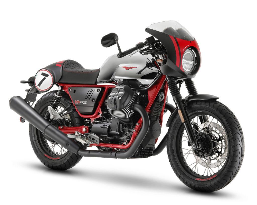A 2020 Moto Guzzi V7 III Racer 10th Anniversary. Photo courtesy of Piaggio Group.