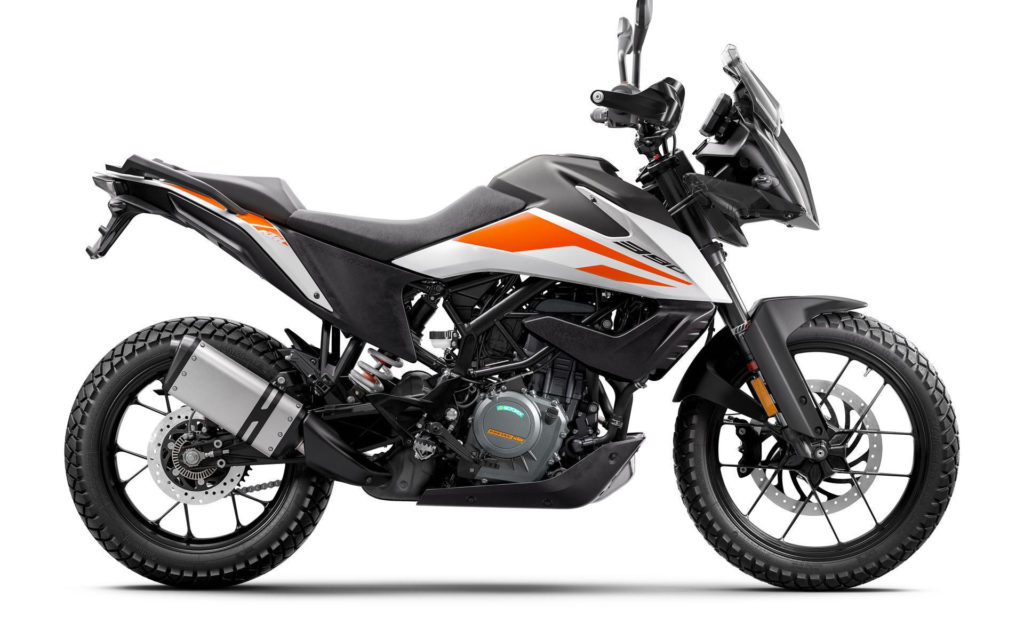 A 2020 KTM 390 Adventure. Photo courtesy of KTM.