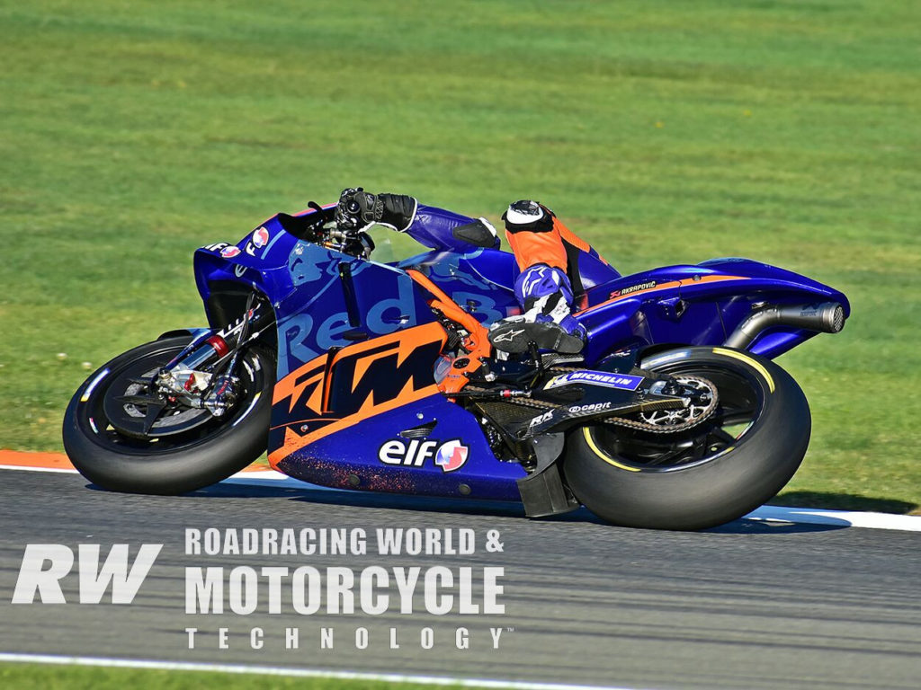 (Above) Iker Lecuona rode his new Red Bull KTM Tech 3 MotoGP ride to 13th on the timesheets. Photo by Michael Gougis.