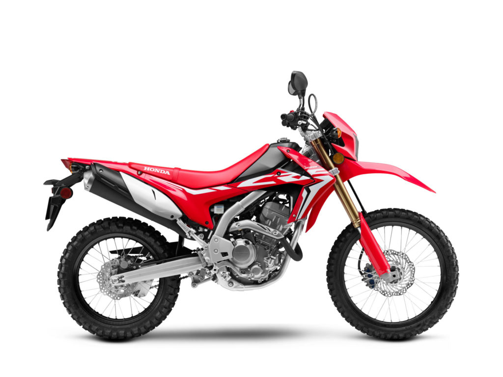 A 2020 Honda CRF250L. Photo courtesy of American Honda.