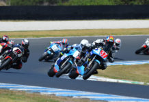 Action from the 2019 International Island Classic at Phillip Island. Photo courtesy of Phillip Island Grand Prix Circuit.