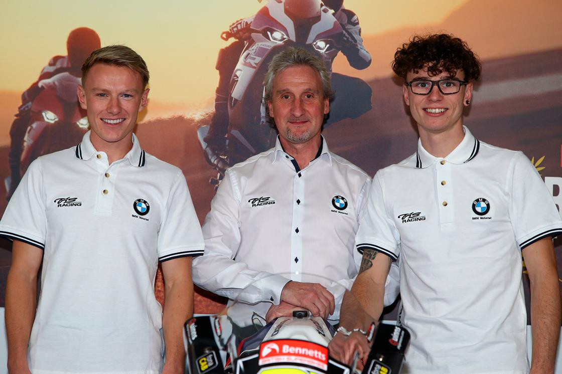 Taylor Mackenzie (left), TAS Racing Team Manager Philip Neill (center), and Bradley Ray (right). Photo courtesy of TAS Racing.