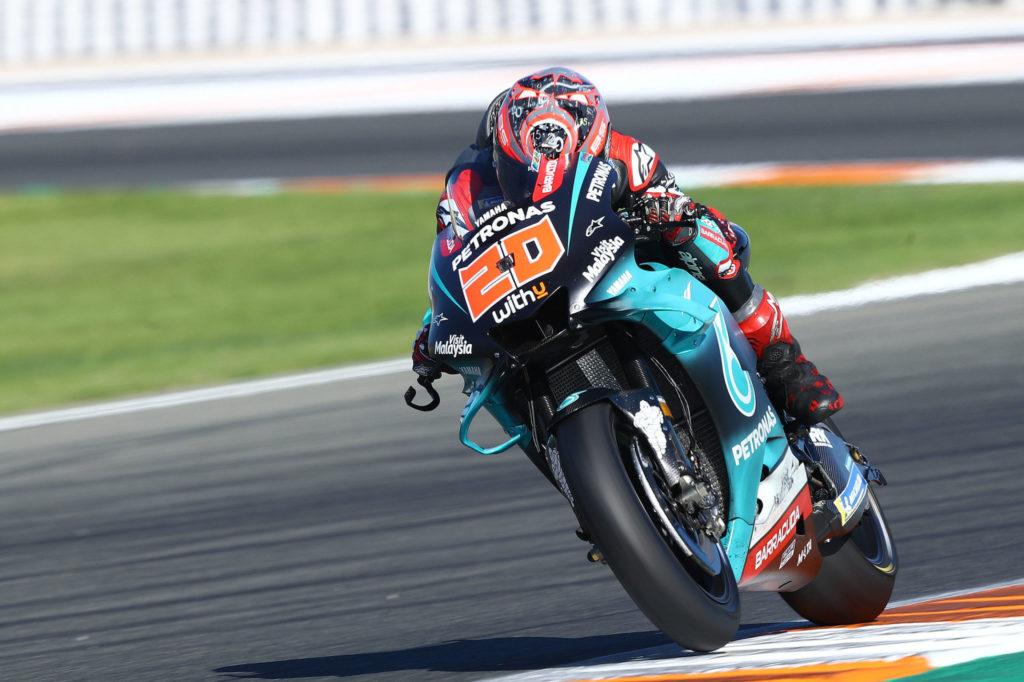 Fabio Quartararo (20). Photo courtesy of PETRONAS Yamaha SRT.