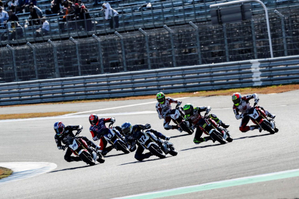The start of the Grom race for fun. Photo courtesy of Honda Pro Racing.
